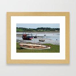 Sunderland Point Moorings Framed Art Print