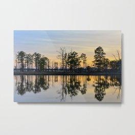 Reflective Sunset Metal Print