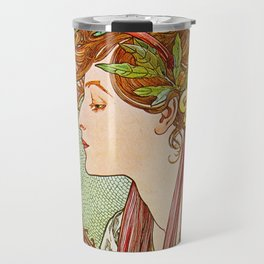 Alphonse Mucha  -  Laurel Travel Mug