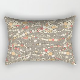 iguana skin brown coral Rectangular Pillow