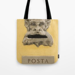 Original demon italian mail box Firenze Tuscany Italy Tote Bag