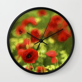 Poppyflower VI Wall Clock