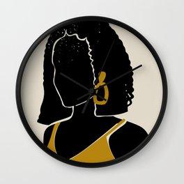 Black Hair No. 11 Wall Clock
