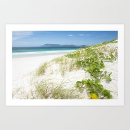 Beach with white sand and turquoise water in Cabo Frio - Brasil Art Print