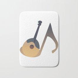 Awesome Banjo's Tshirt Design Musical note Banjo Bath Mat