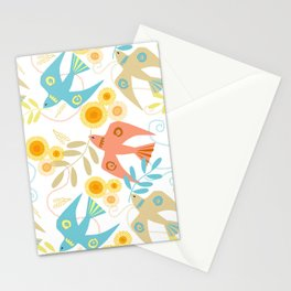 Peaceful Doves White Stationery Cards
