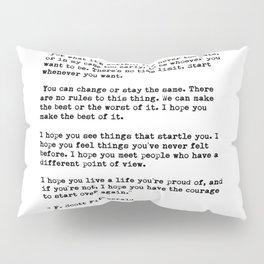F Scott Fitzgerald quote Pillow Sham