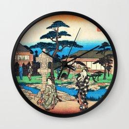 Utagawa Hiroshige - Edo Komeikaiteizukushi - Mukojima, Daishichi Wall Clock