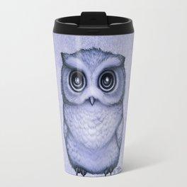 """The Little Owl"" by Amber Marine ~ (Lavender Bud Version) Pencil&Ink Illustration, (Copyright 2016) Travel Mug"