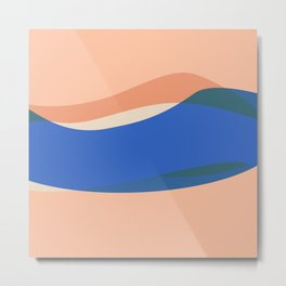 Peach Waves, but Extra Metal Print