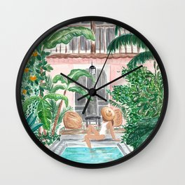 Moroccan Dream - Brunette Hair (Other Hair & Skin Tones Available) Wall Clock