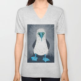 Blue Footed Booby Art Print Unisex V-Neck