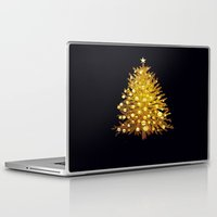 christmas tree Laptop & iPad Skins featuring Christmas tree by valzart