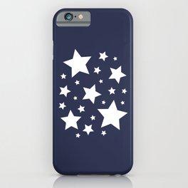 Stars - Navy Blue iPhone Case