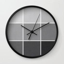 9 Shades of Black Wall Clock
