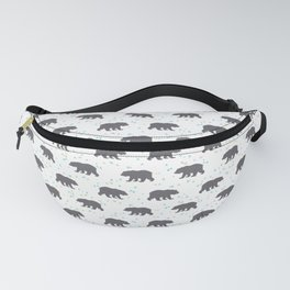 Forrest Animal Bear Print Fanny Pack