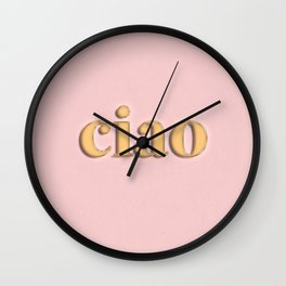 ciao typography Wall Clock
