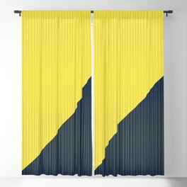 Get in line / Yellow and Navy lines Blackout Curtain