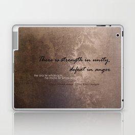 Strength in Unity - Defeat in Anger - Maori Wisdom - metalic Laptop & iPad Skin