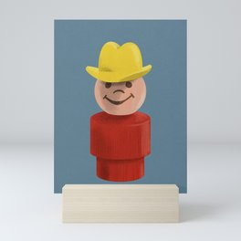 All Hat and No Cattle Mini Art Print