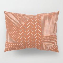 Mud Cloth / Orange Pillow Sham