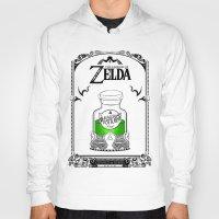 the legend of zelda Hoodies featuring Zelda legend - Green potion  by Art & Be