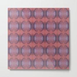 Lacy pattern weaving Metal Print