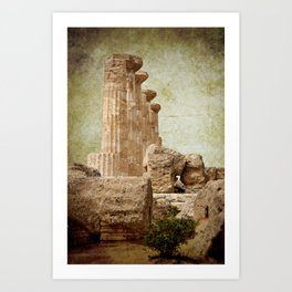 The temple of Heracles Art Print