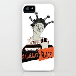 Naturally Black iPhone Case