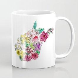 Hand Painted West Virginia State Map Coffee Mug