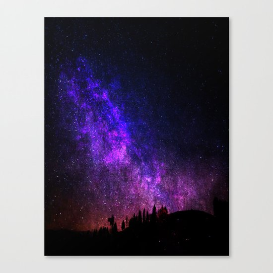 Galaxy Shower Canvas Print