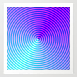 Coiled in Blue and Pink Art Print