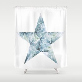 Frosted Star Shower Curtain