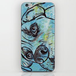Blue Pit Bull Dog iPhone Skin