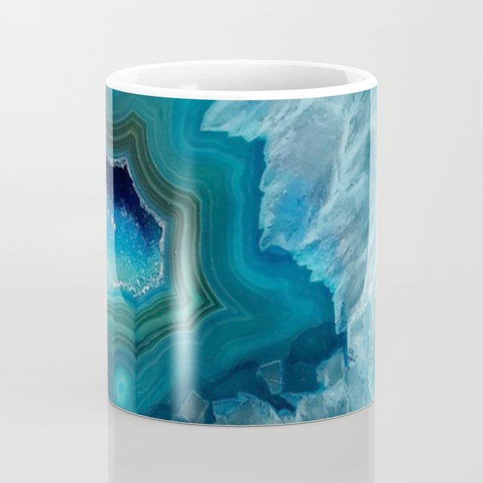 Teal Druzy Agate Quartz Coffee Mug
