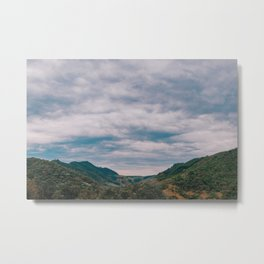 Clouds and Mountain Metal Print