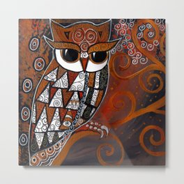 Golden Eyed Owl Metal Print