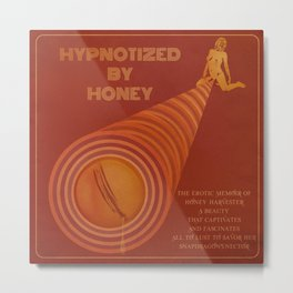 Hypnotized By Honey - Retro Erotic Adult XXX Movie Poster Art Print Design Metal Print