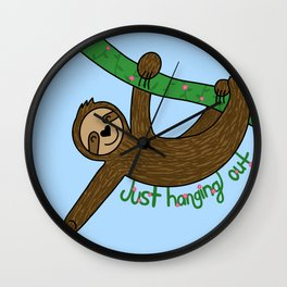 Sloth: Just Hanging Out Wall Clock