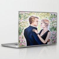 gatsby Laptop & iPad Skins featuring GATSBY - DAISY by Sam Parigi