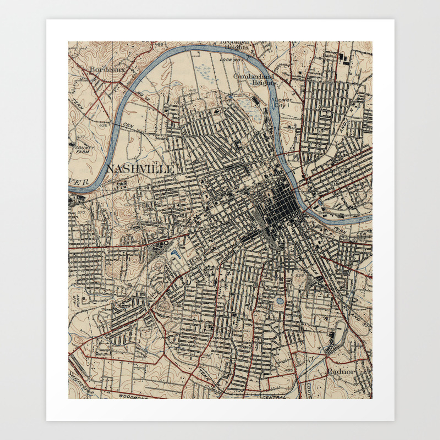 It is an image of Printable Map of Nashville intended for tennessee