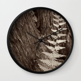 Single Copper Fern Wall Clock