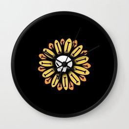 Skull Sunflower Wall Clock