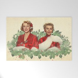 Sisters - A Merry White Christmas Welcome Mat