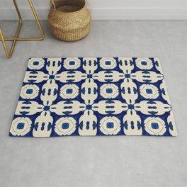 Classic Blue Moroccan Blue White Pattern II Rug