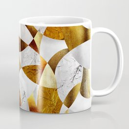 Curves - Silver and Gold Coffee Mug
