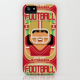 American Football Red and Gold - Hail-Mary Blitzsacker - Indie version iPhone Case