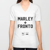 marley V-neck T-shirts featuring Marley + Fronto by Elements of Surprise