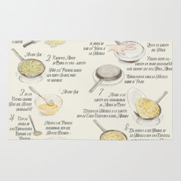 Tortilla de patatas recipe in Spanish Rug