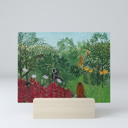 """Henri Rousseau """"Tropical Forest with Apes and Snake"""", 1910 Mini Art Print"""